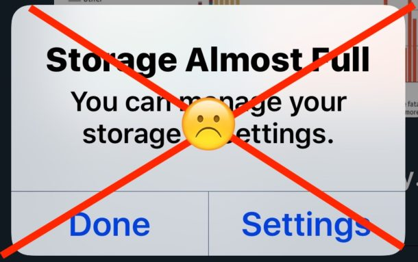Use Offload Unused Apps in iOS to save storage space