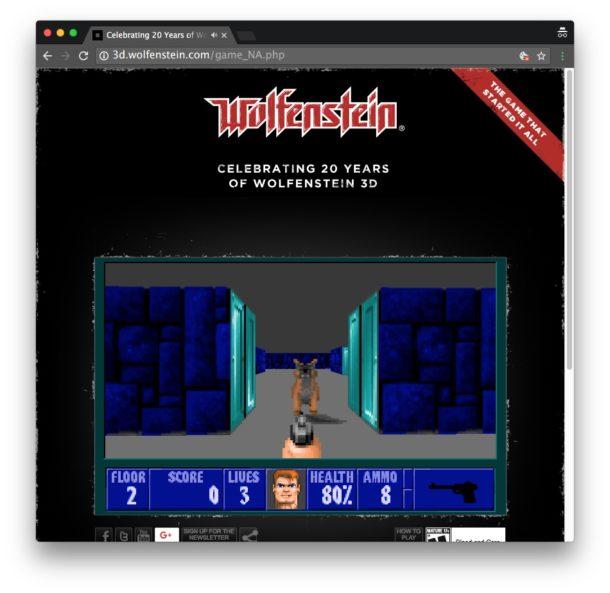 Wolfenstein 3D in a web browser