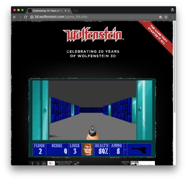 Wolfenstein in a web browser