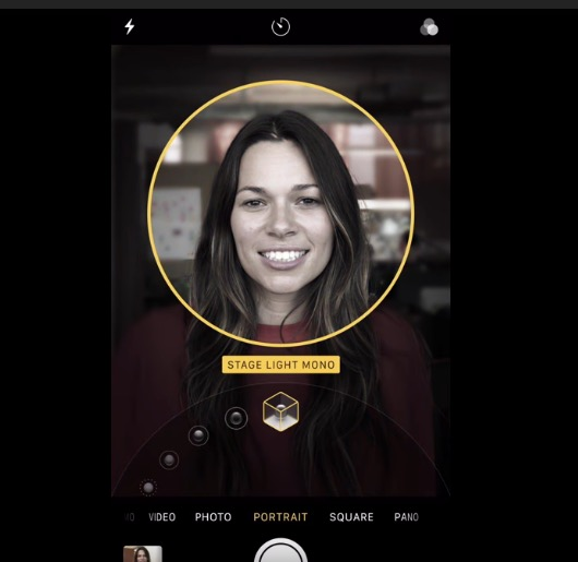 Portrait Lighting Effects shown in Apple promotional videos