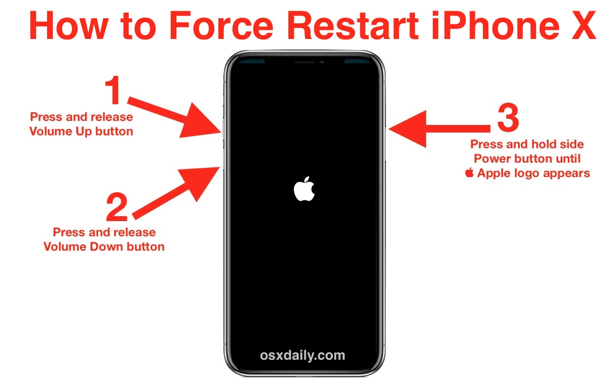 How to force restart iPhone X in three steps