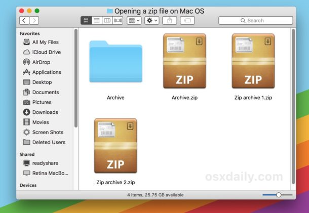 How to Open Zip Files on a Mac