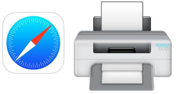 Print webpages simplified and without clutter using Safari in iOS