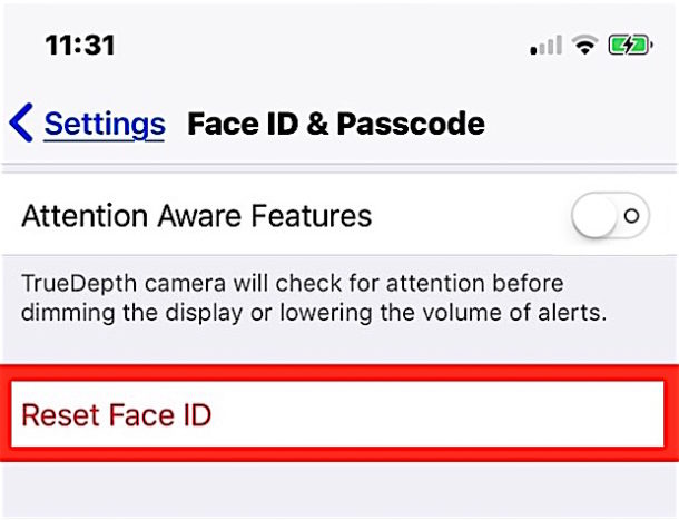 Reset Face ID on iPhone X