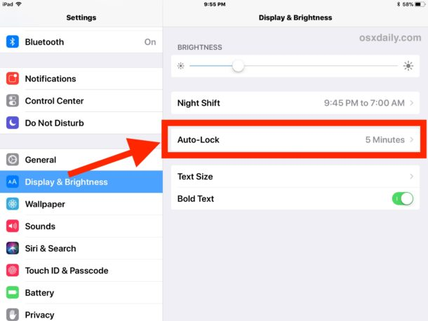 How to stop iPad screen sleeping