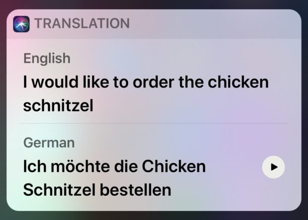 Translate languages with Siri in iOS