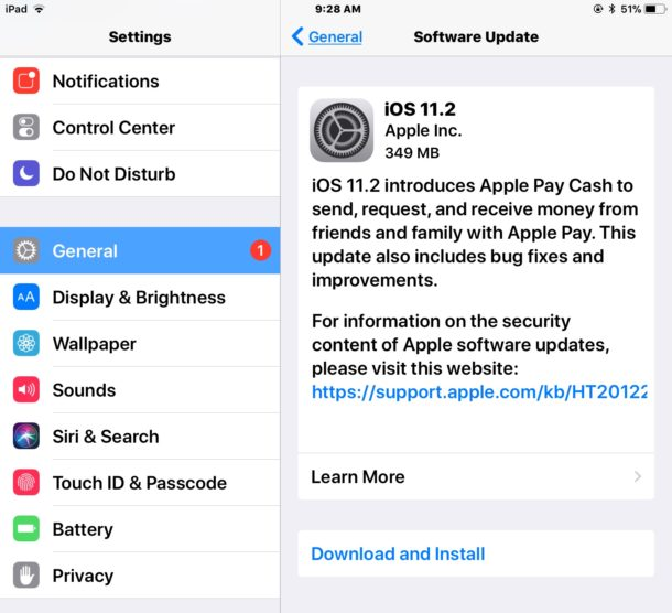 iOS 11.2 update download