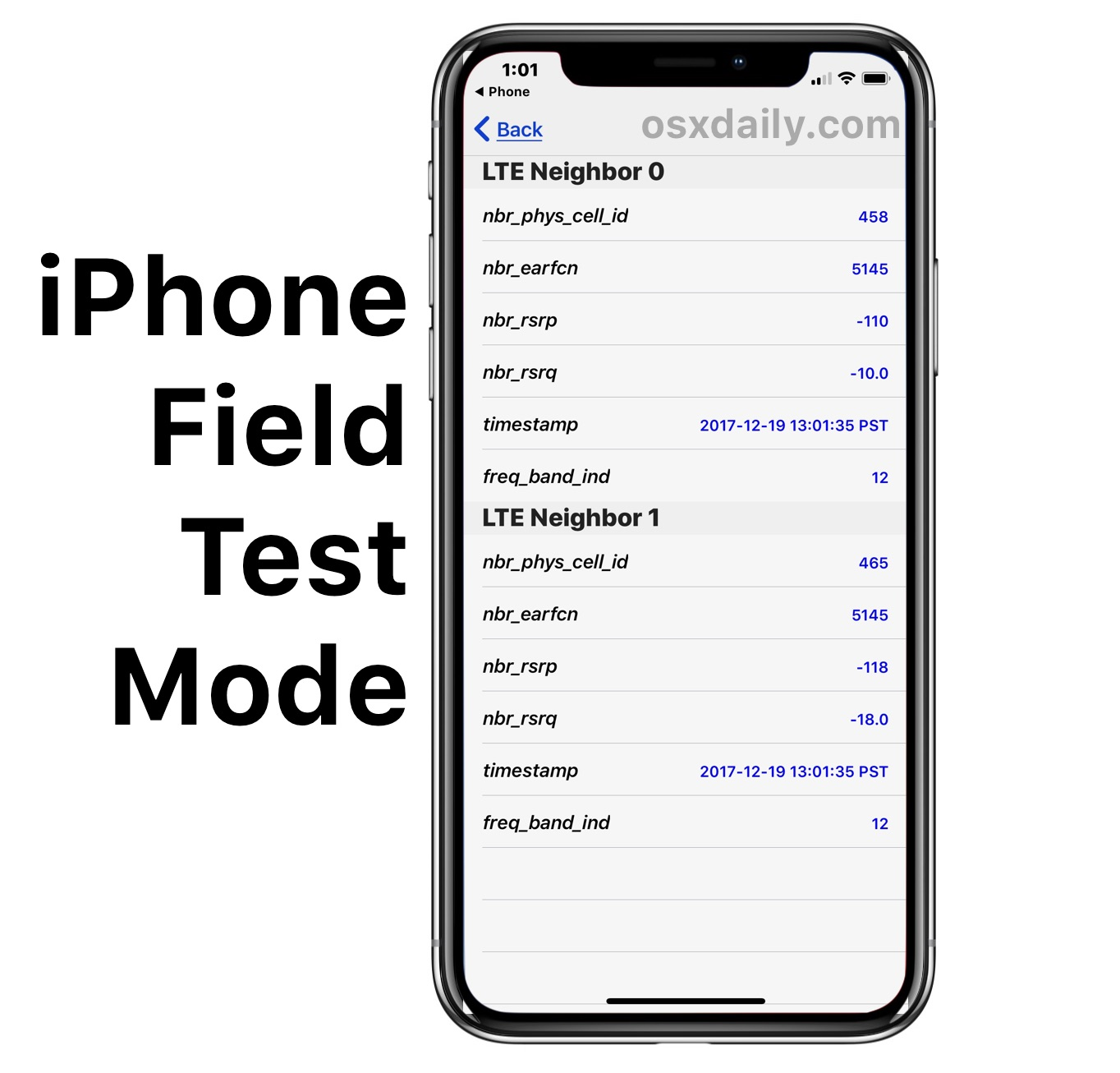 iphone field test how to use field test mode in ios 11 and iphone x 11836