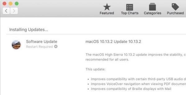 MacOS High Sierra 10.13.2 update