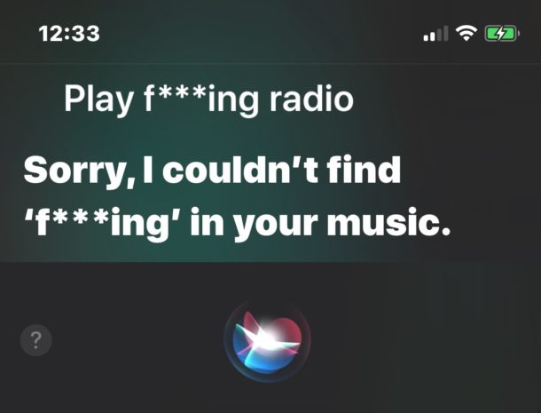 Prevent bad language with Siri on iOS