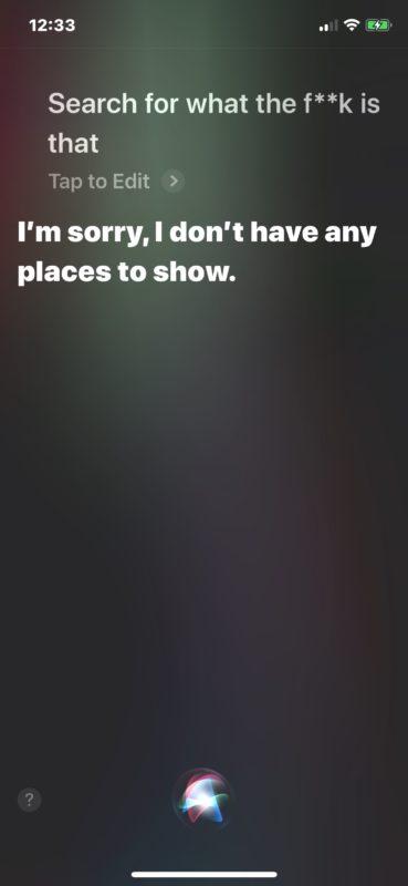 Siri bad language disabled