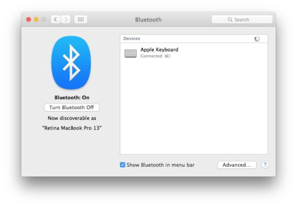 Apple Keyboard working in Bluetooth and connected