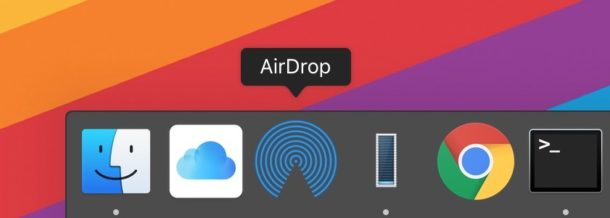 Add AirDrop to Dock in Mac OS for quick access