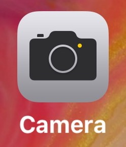 Open Camera app on iPhone