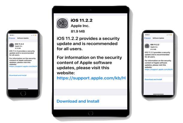 iOS 11.2.2 update