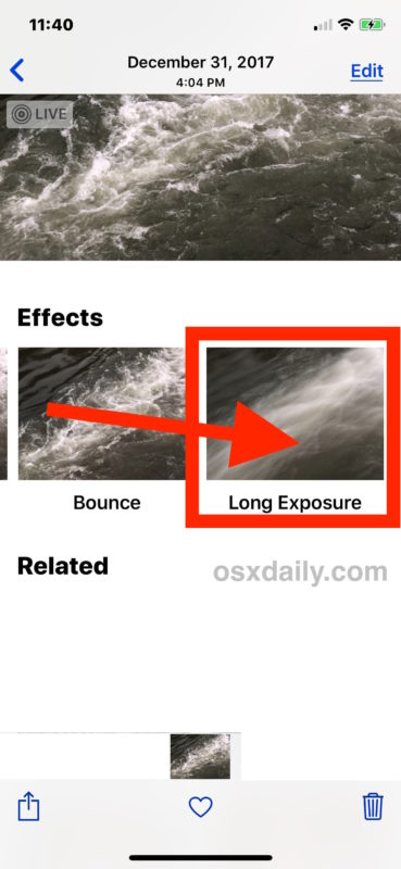 How to use Long Exposure photos on iPhone and iPad