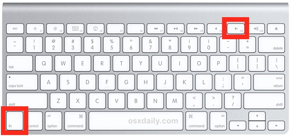 Keyboard shortcut to show desktop on Mac with Function F11