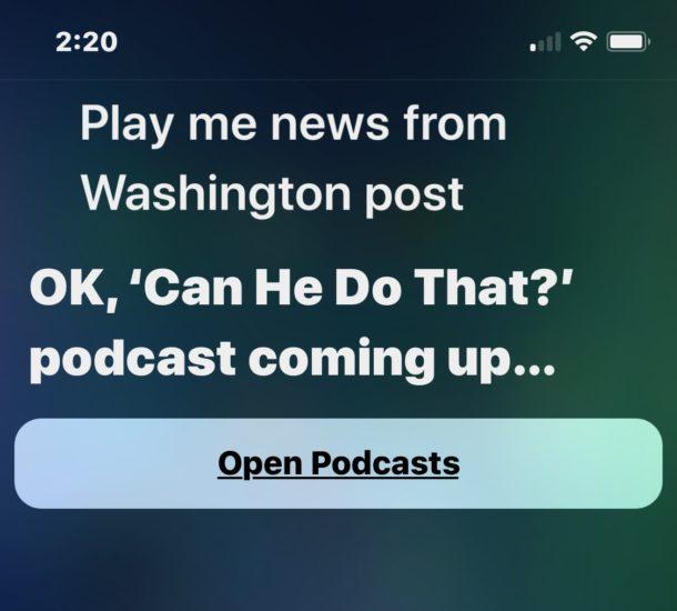 Siri wrong news