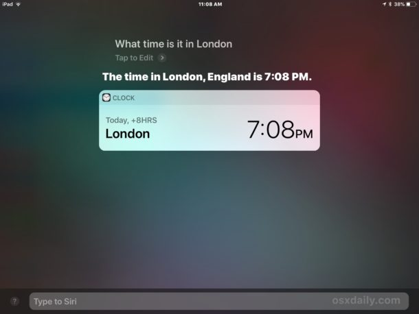 Type to Siri replying with a command on iOS