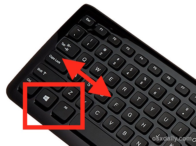 Use Windows PC Keyboard on Mac with remapped modifier keys