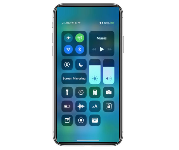 How to open Control Center on iPhone X
