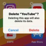 Delete the YouTube app