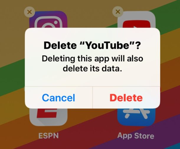 Delete the YouTube app will prevent it from launching
