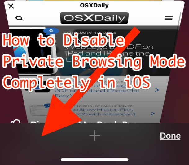Disable Private Browsing in iOS Completely