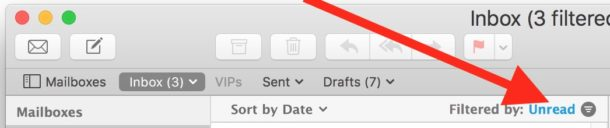 Filter Mac Mail for Unread Messages instantly