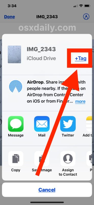 How to tag a file in iOS