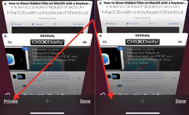 How To Completely Disable Private Browsing In Ios On Iphone And Ipad Osxdaily