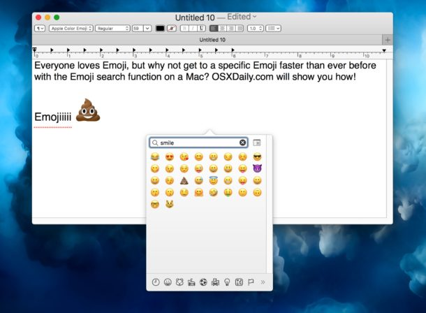 Searching for specific Emoji on the Mac