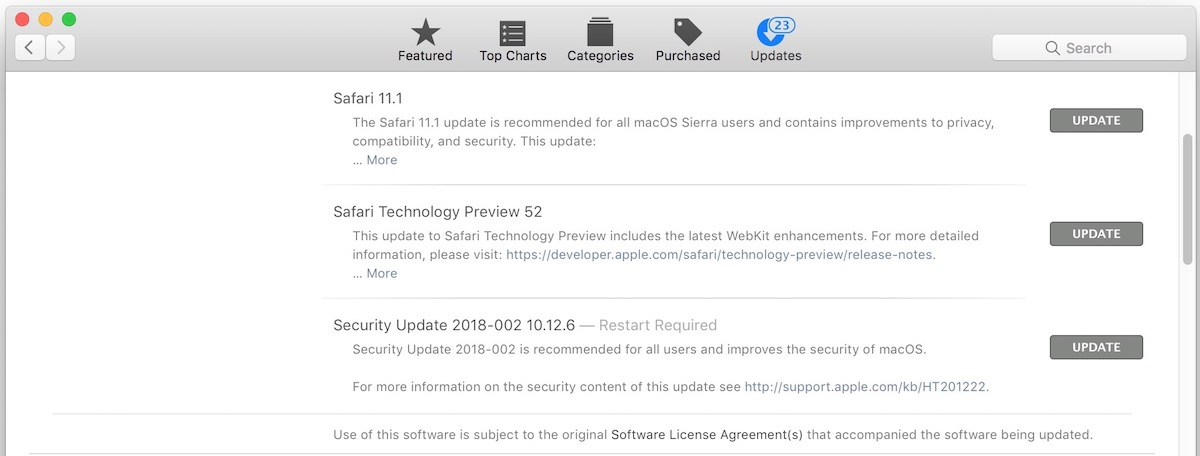 Security Update 2018-002 update available for Sierra and El Capitan