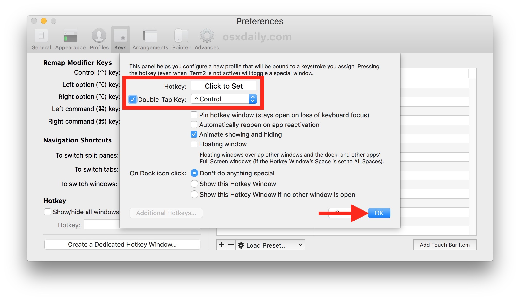 Set the Hotkey for instant command line access on Mac