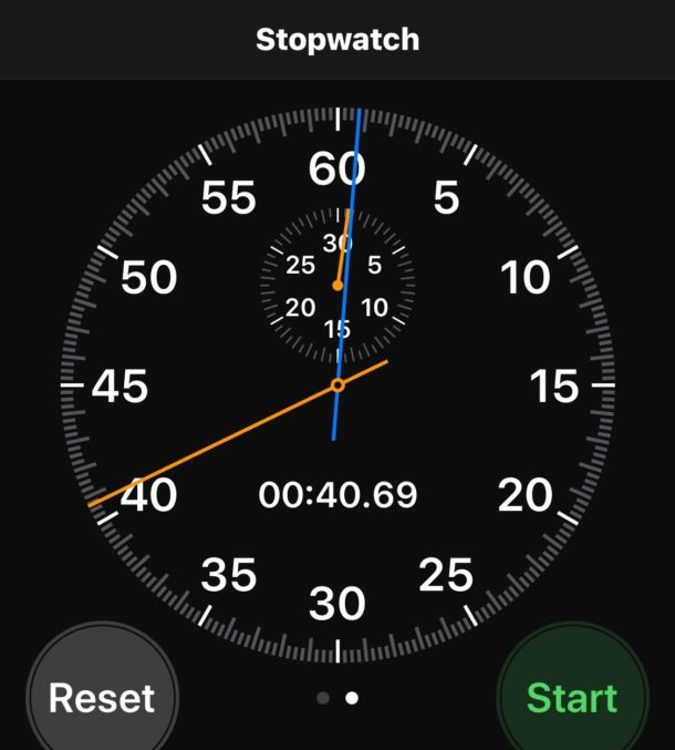 The iPhone Stopwatch