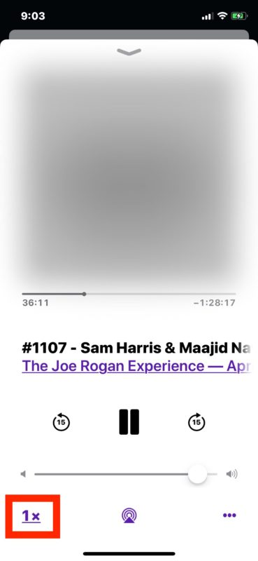 Fix podcasts playing too fast on iPhone