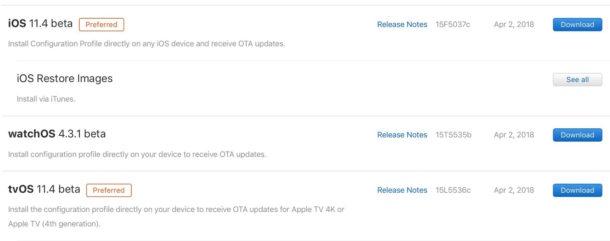 iOS 11.4 beta and many more betas betas everywhere