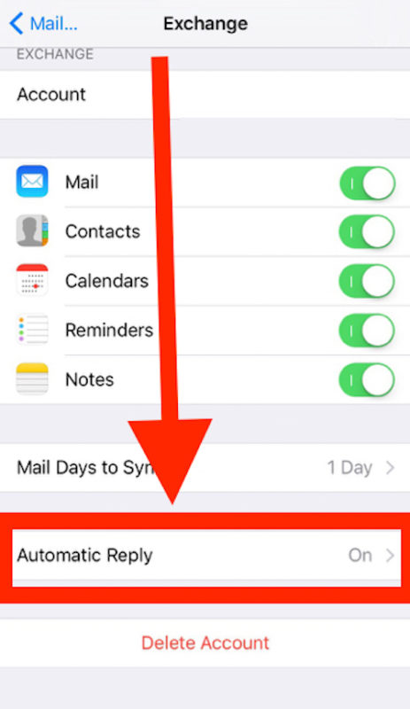 auto reply on iphone how to set an out of office auto reply email message on 2628