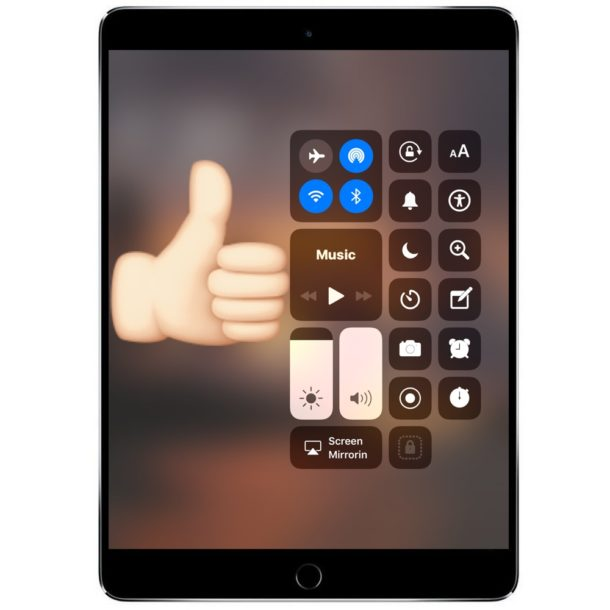 Access Control Center from Lock Screen of iPad and iPhone