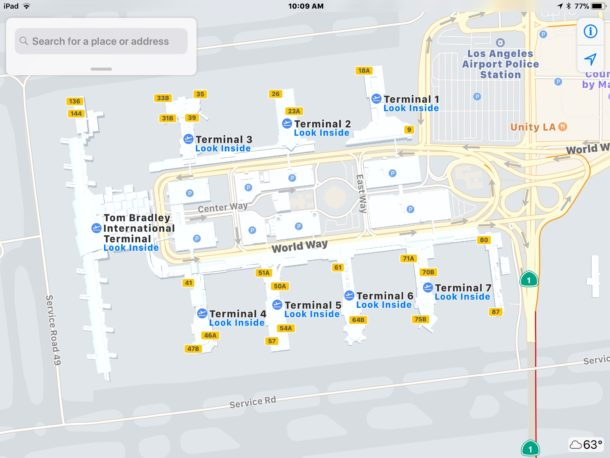 Apple Maps lets you look inside airports to help travel planning