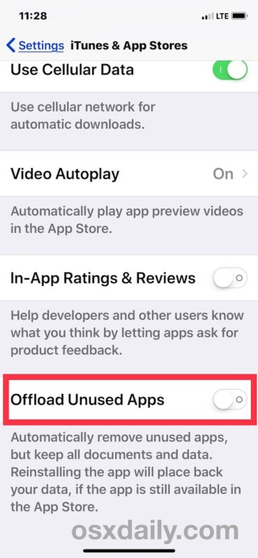 How to stop apps disappearing from iOS by disabling offload unused apps