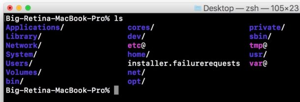 Command working in Mac terminal as expected