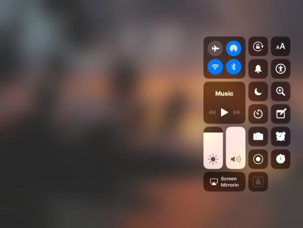 Control Center accessed from the Lock Screen of an iPad and iPhone has to be enabled sometimes