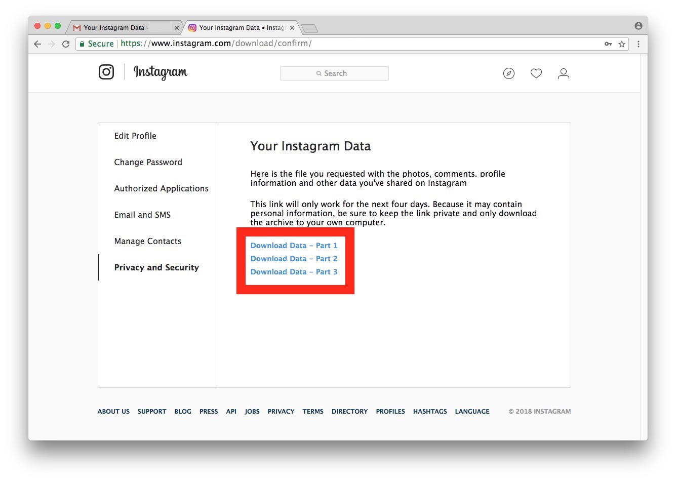 How to download all Instagram photos and videos