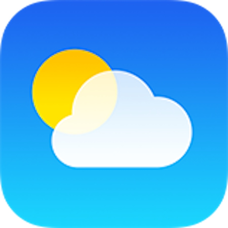 The iPhone weather icon