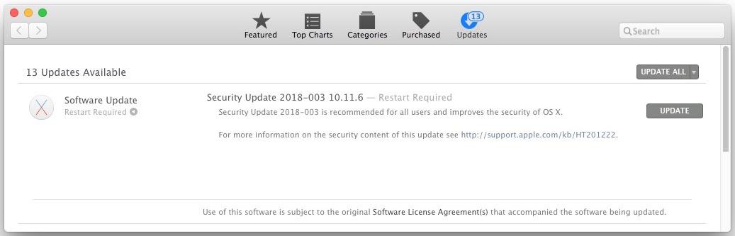 Security Update 2018-003