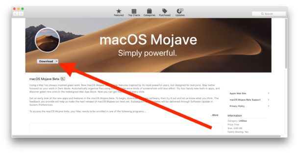 Download the macOS Mojave public beta