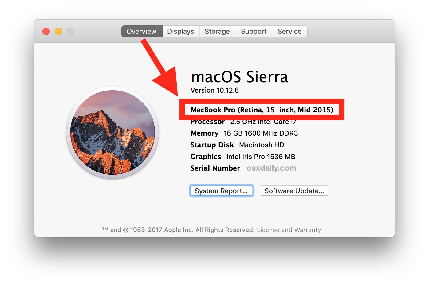 How to find Mac model and model year to check for macOS Mojave compatibility