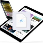 How to save zip files on iPhone or iPad