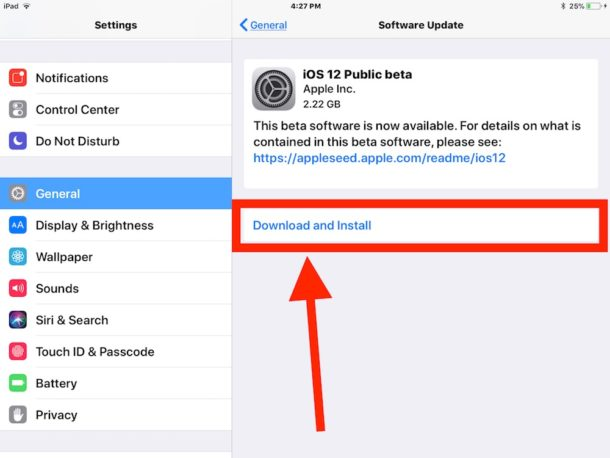 Download and install iOS 12 public beta